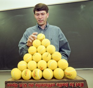 Thomas Hales, pictured in 1998, used a computer to prove a famous conjecture about the densest way to stack spheres. (Photo: Michigan Photography)