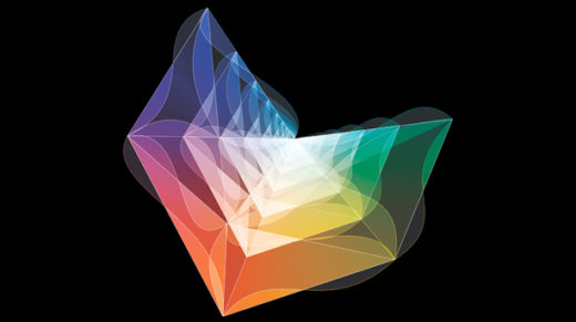 Illustration of an amplituhedron.