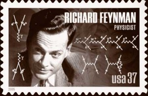 "The iconic 20th century physicist Richard Feynman invented a method for calculating probabilities of particle interactions using depictions of all the different ways an interaction could occur. Examples of ""Feynman diagrams"" were included on a 2005 postage stamp honoring Feynman."