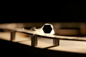 Levitating superconductor.
