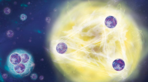 Three groups of experimentalists have independently observed a strange state of matter that forms from three particles of any type and at any scale, from practically infinitesimal to infinite.