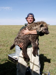 Kevin Theis and hyena.
