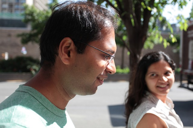 Subhash Khot and his wife.