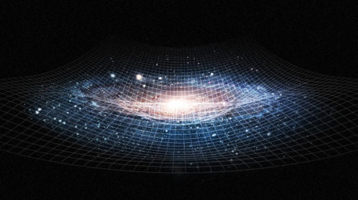 Imagine the fabric of space-time peeled back layer by layer.