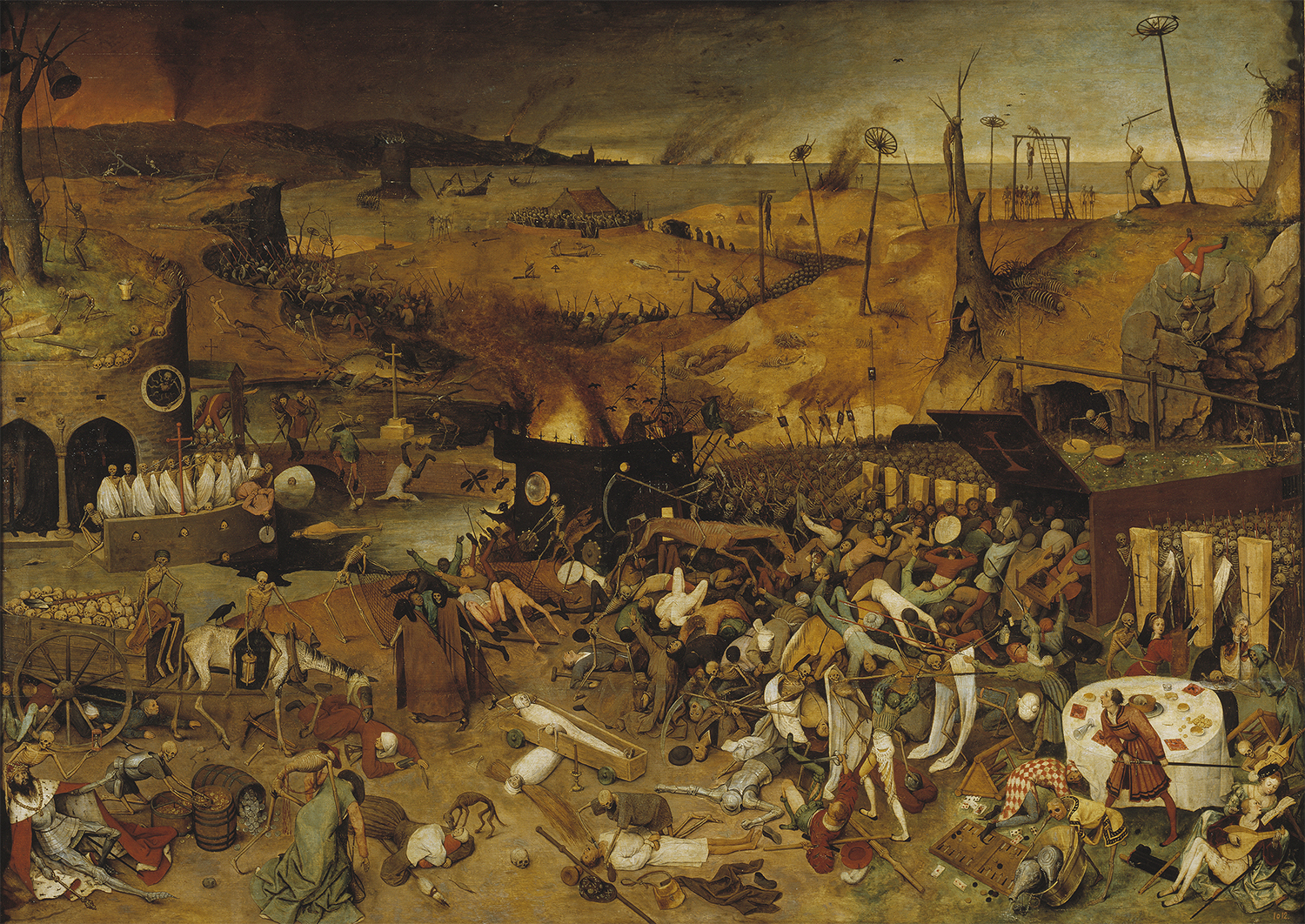 A scene from The Triumph of Death (1562), by Pieter Bruegel the Elder.