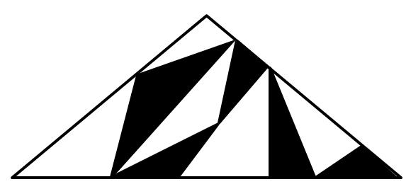Triangular dance floor tiling