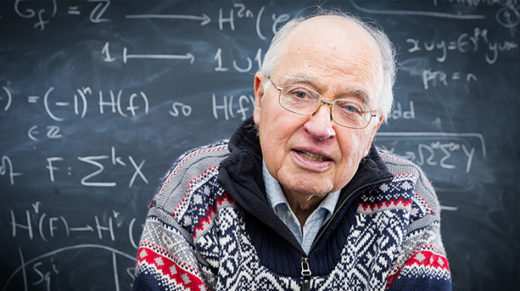 At 86, Britain's preeminent mathematical matchmaker is still tackling the big questions and dreaming of a union between the quantum and the gravitational forces.