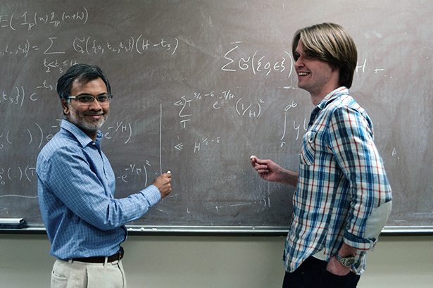 Kannan Soundararajan, left, and Robert Lemke Oliver of Stanford University in February.