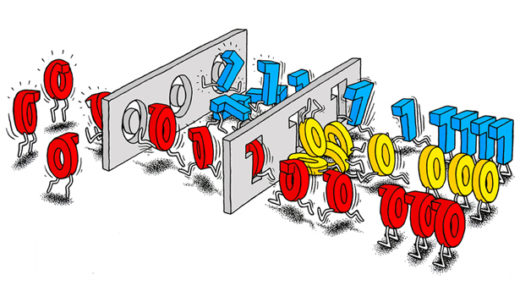 "Quantum bits, or ""qubits,"" can be in a superposition of both zero and one."