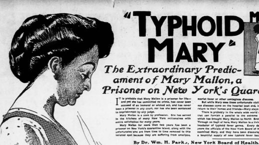 The infamous case of Typhoid Mary underscores the importance of tolerance in understanding disease.