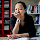 The physicist-mathematician Miranda Cheng is working to harness a mysterious connection between string theory, algebra and number theory.