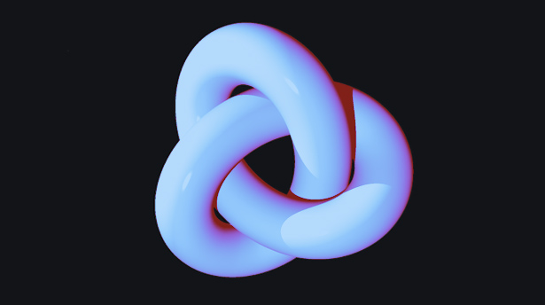 Topology is used to study the properties of objects such as this trefoil knot.