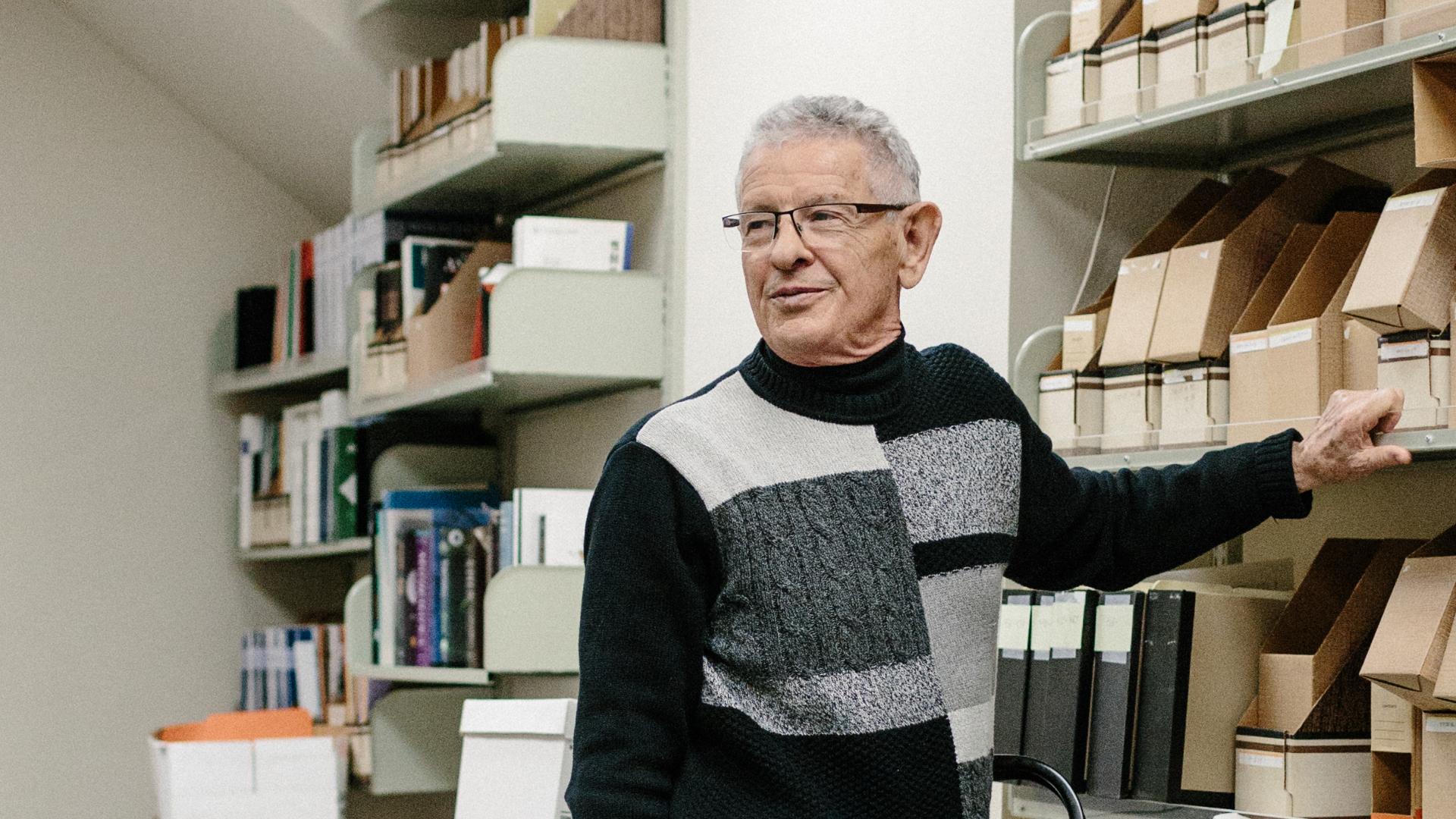 Marcus Feldman in his office at Stanford University, CA