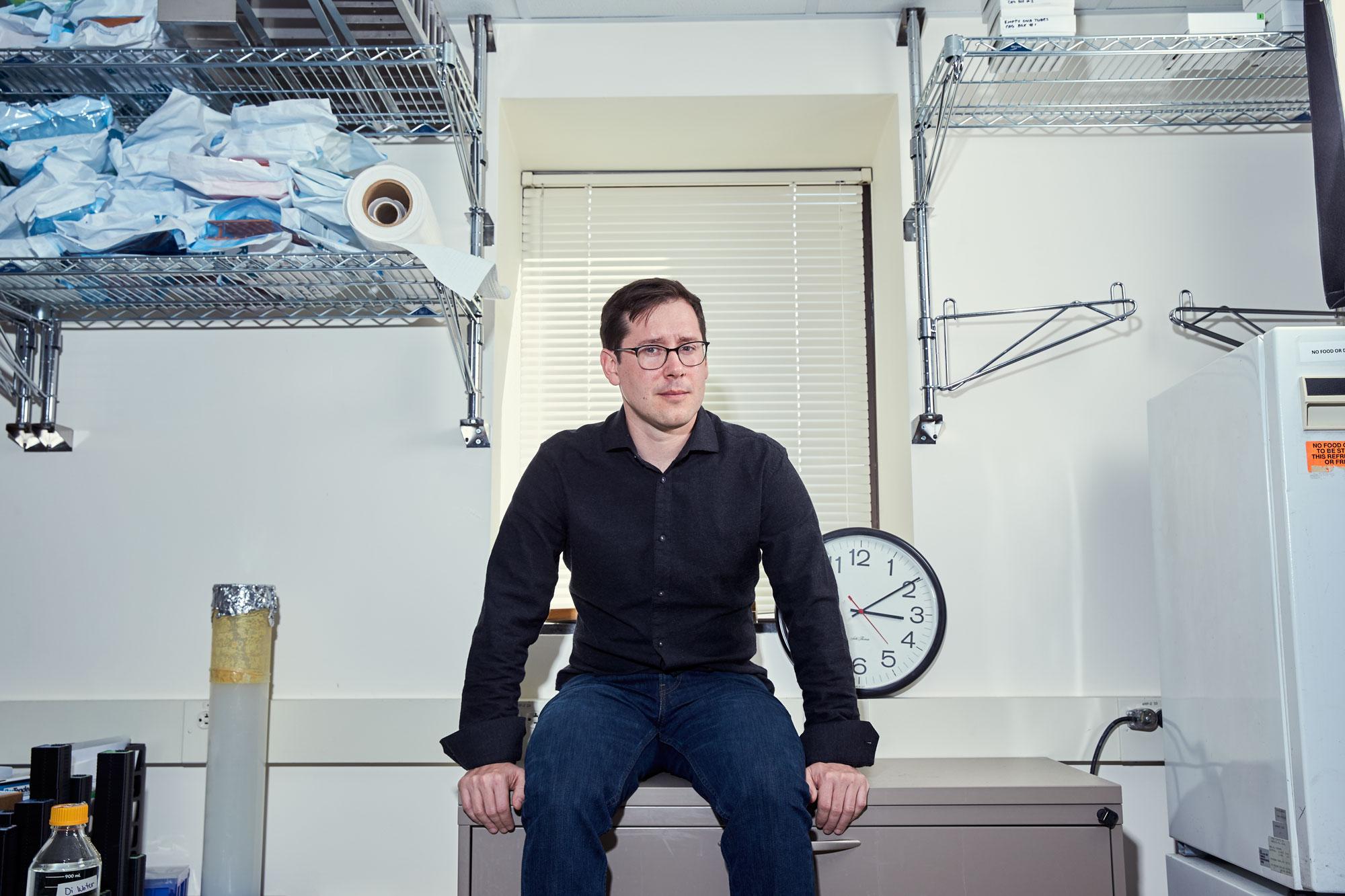 John November in his office