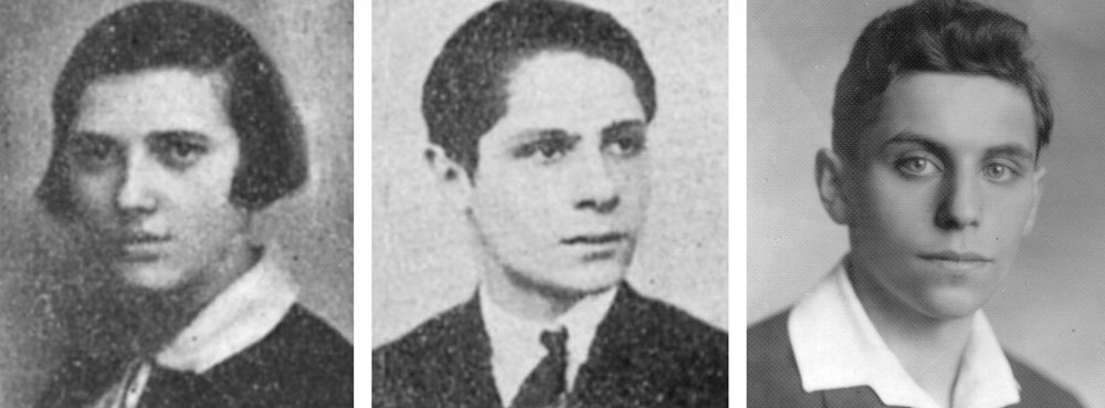 Esther Klein in 1927, George Szekeres in 1928 and Paul Erdős in an undated photograph.