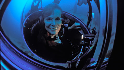 Sylvia Earle in one-person submersible DeepWorker