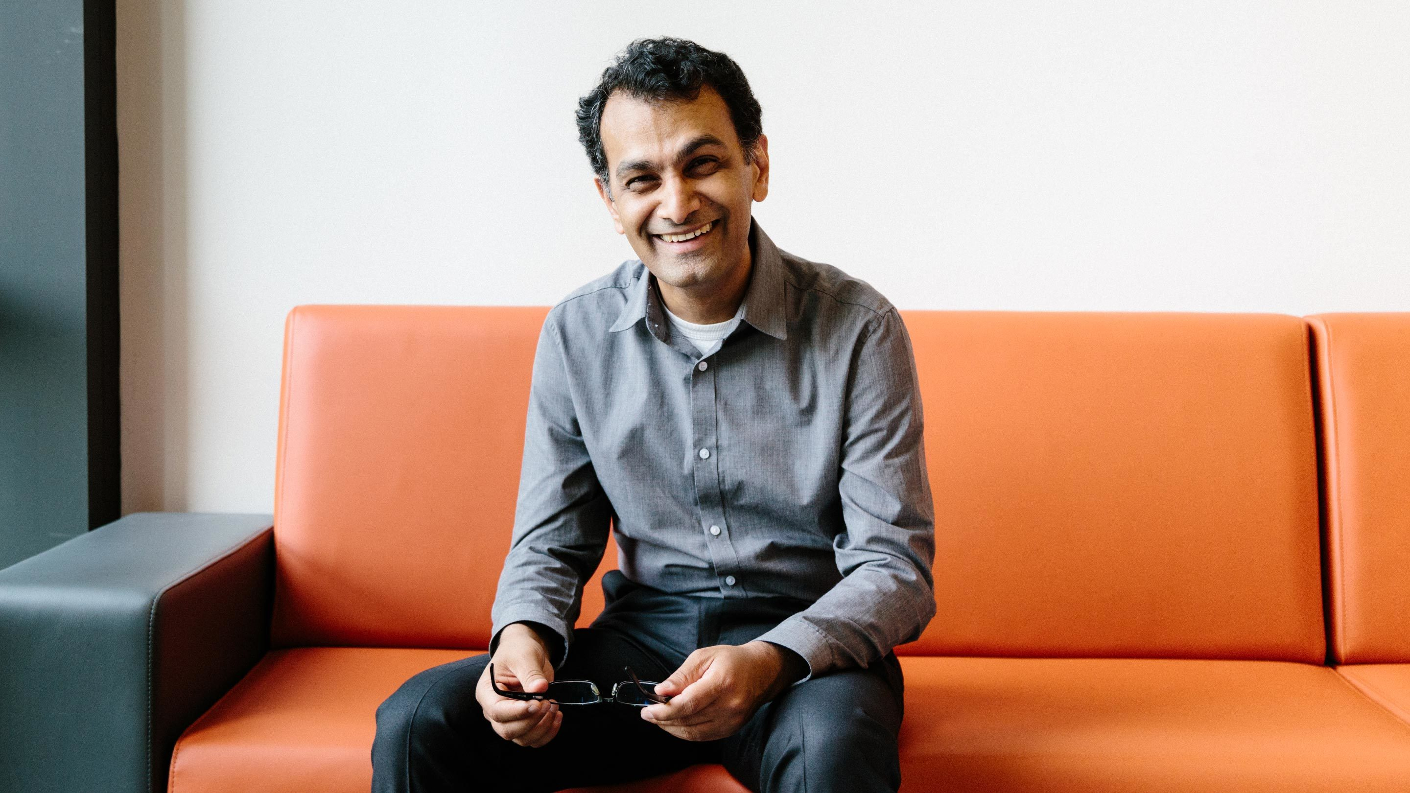 Purvesh Khatri in his office at Stanford University.