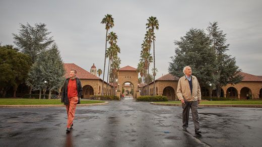 The two physicists who introduced Peccei-Quinn symmetry came up with their idea on and around Stanford University's campus 40 years ago.