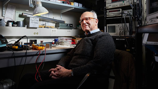 The physicist who designed the LIGO experiment that detected gravitational waves still holes up in a small basement lab surrounded by electronics and optical instruments.