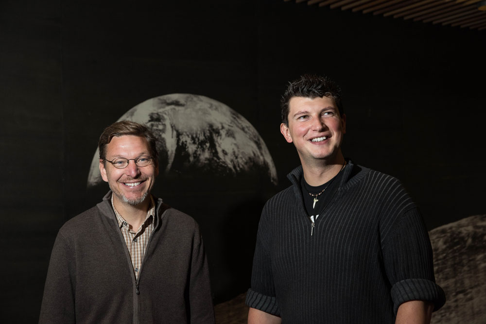 Caltech astronomers Mike Brown (left) and Konstantin Batygin.