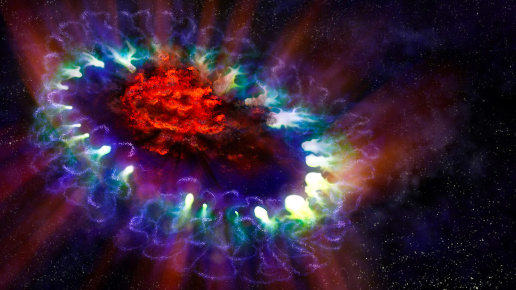 VIDEO: This animation is an artist's impression of the explosion and aftermath of supernova 1987A.