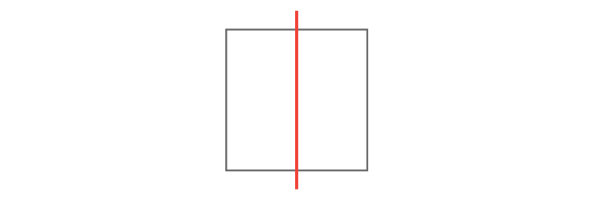 square with line