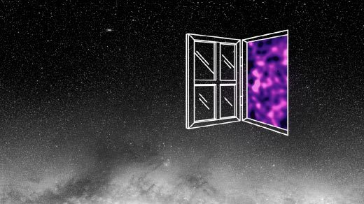 Illustration: window showing dark matter map