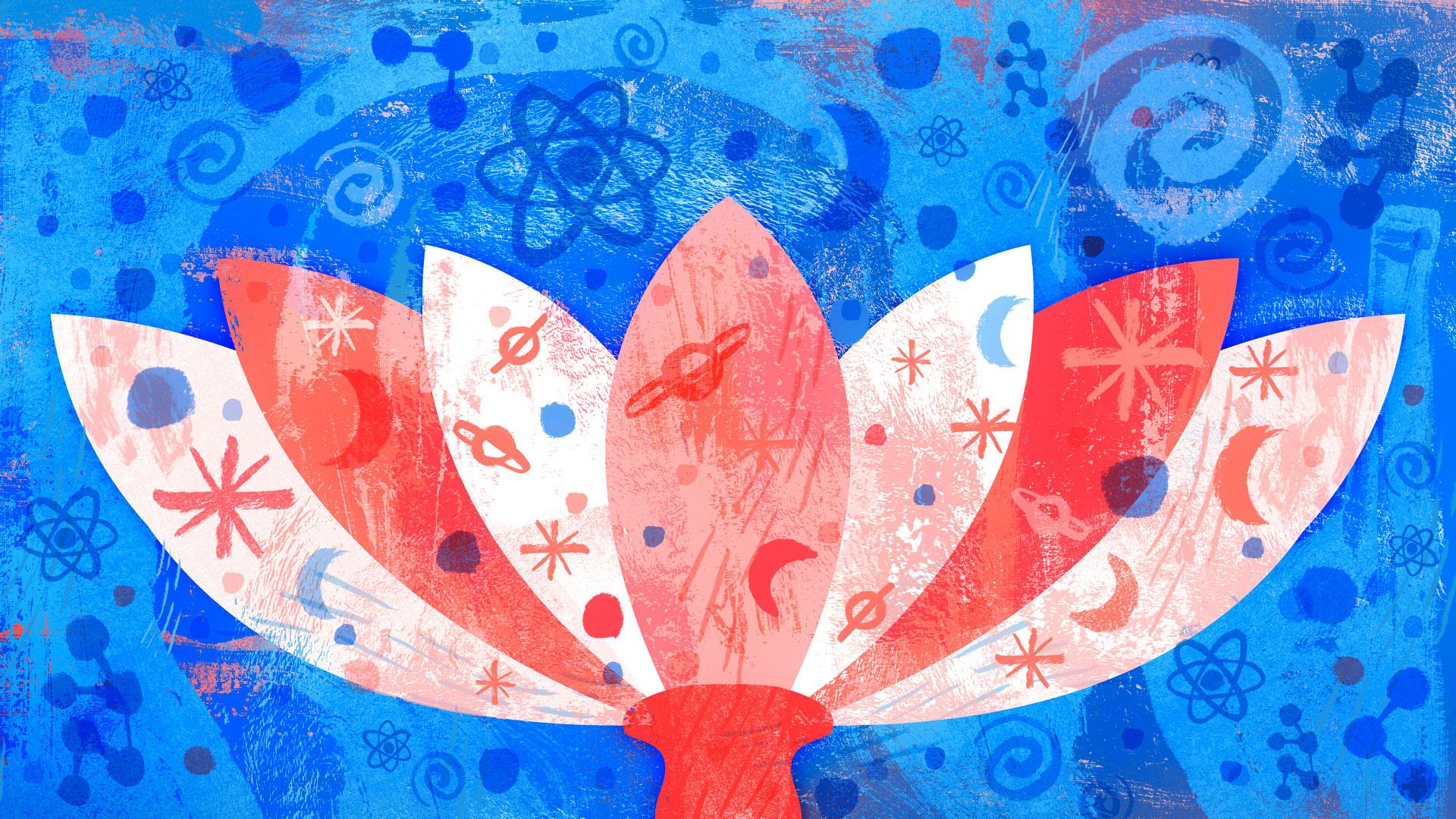 Emergent reductionism flower