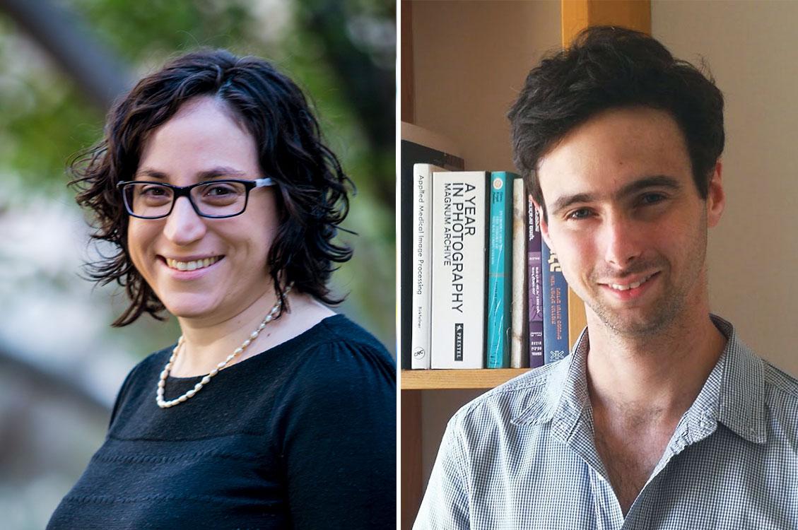 Noga Zaslavsky, left, and Ravid Shwartz-Ziv helped develop the information bottleneck theory of deep learning as graduate students of Naftali Tishby's.