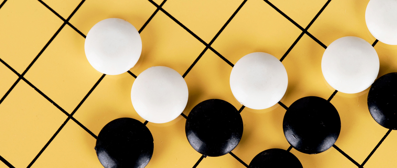 Photo of AlphaGo board by dreamdream | Quanta Magazine