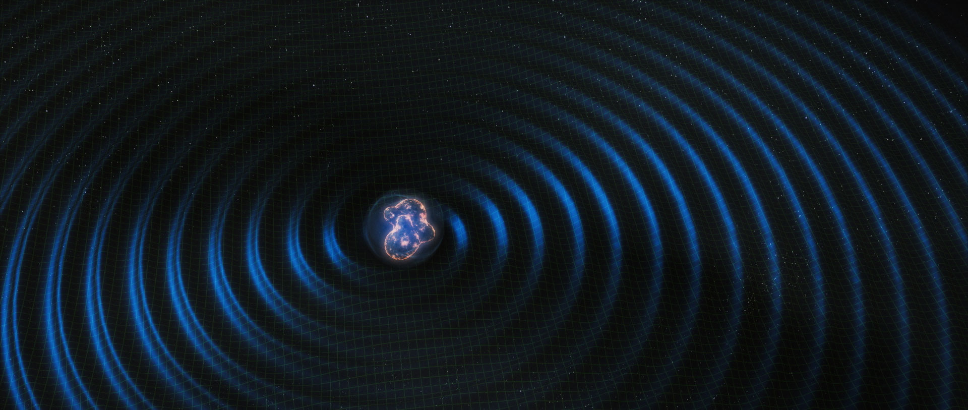 Artist's rendering of merging neutron stars.