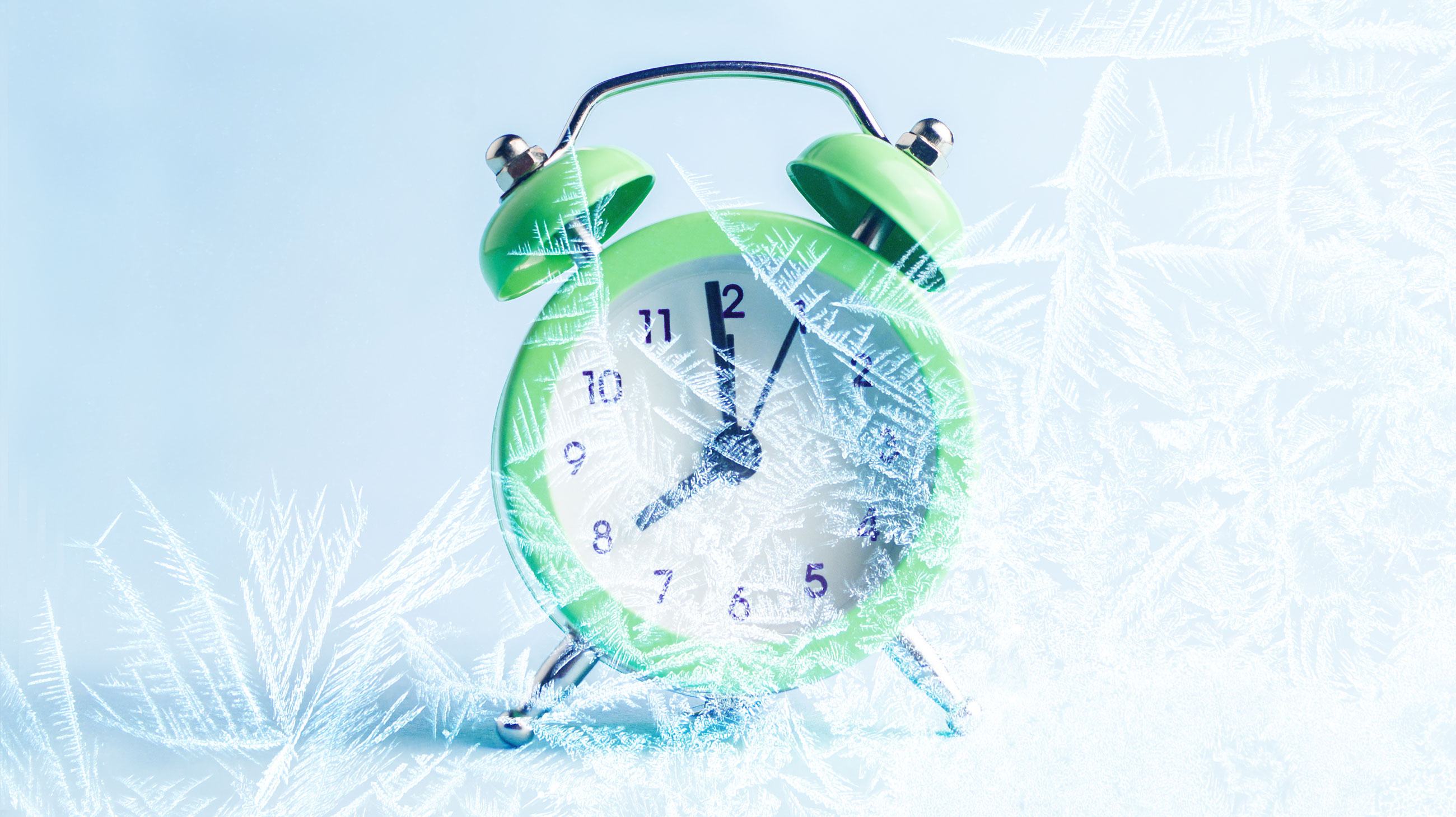 Frozen clock photo