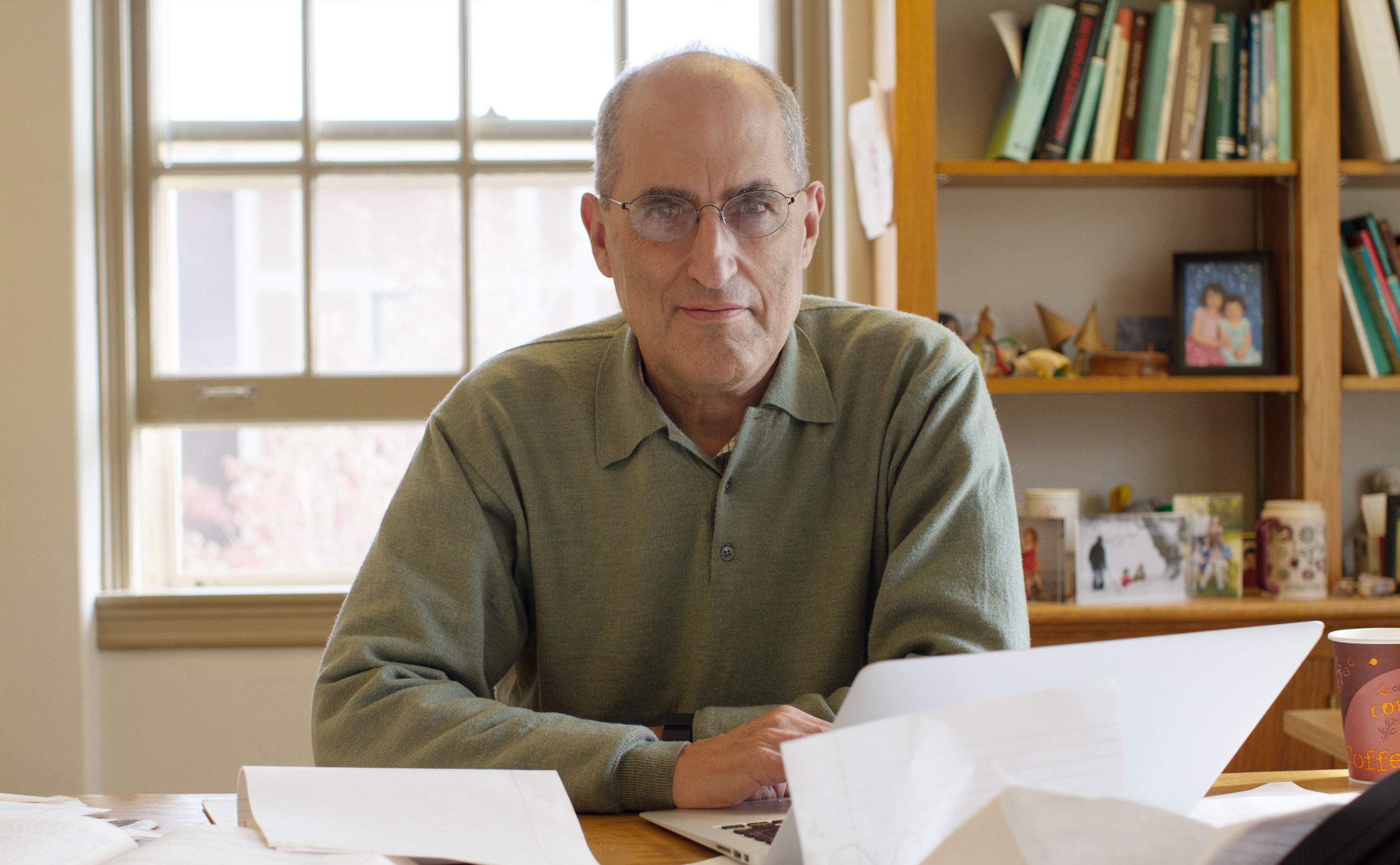 Edward Witten in his office at the Institute for Advanced Study in Princeton, New Jersey.