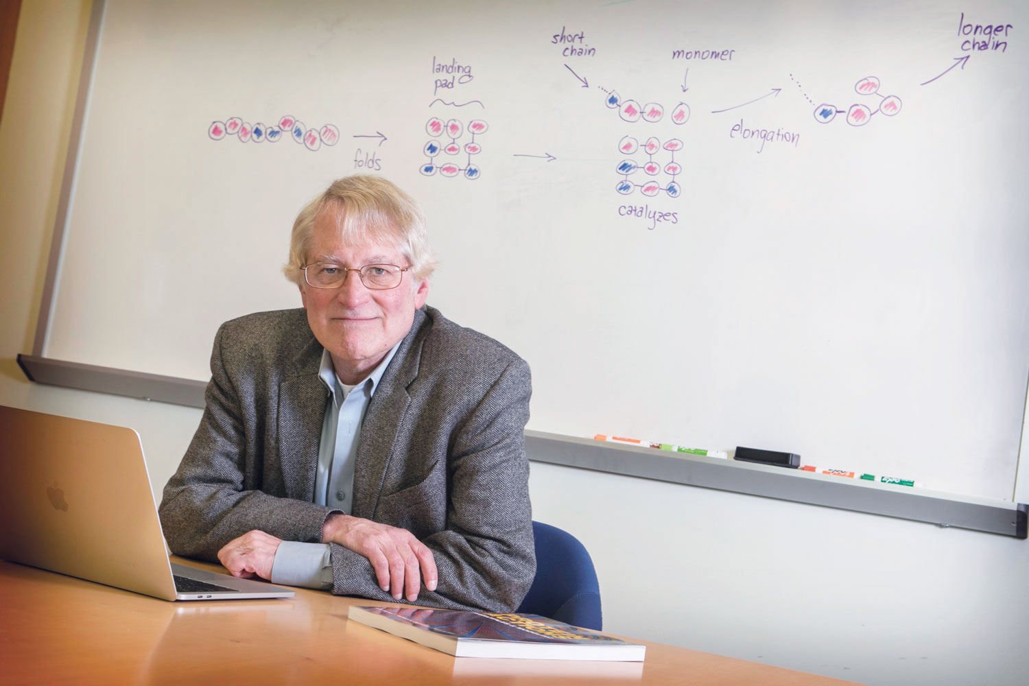 Ken Dill, a biophysicist at Stony Brook University, has been studying protein folding for decades. He's now using that work to examine the chemistry-to-biology transition that took place four billion years ago.
