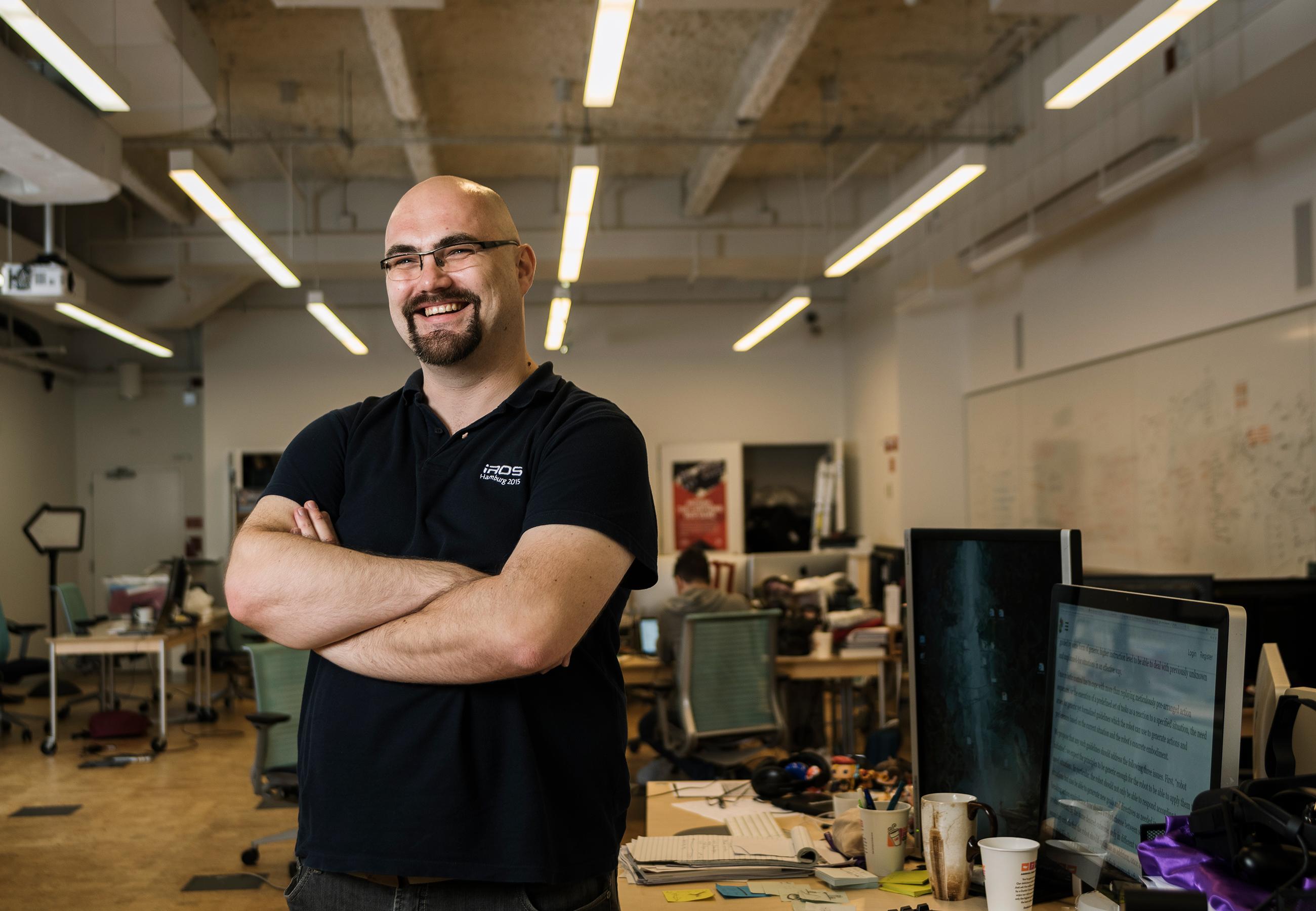 Christoph Salge at New York University's Game Innovation Lab.