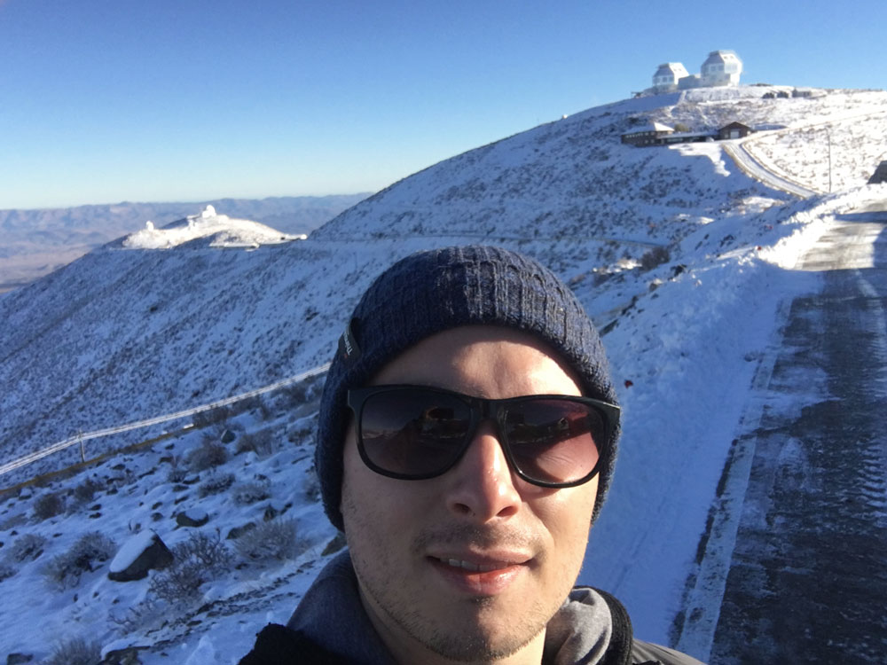 Eduardo Bañados at the Las Campanas Observatory in Chile, where the new quasar was discovered.
