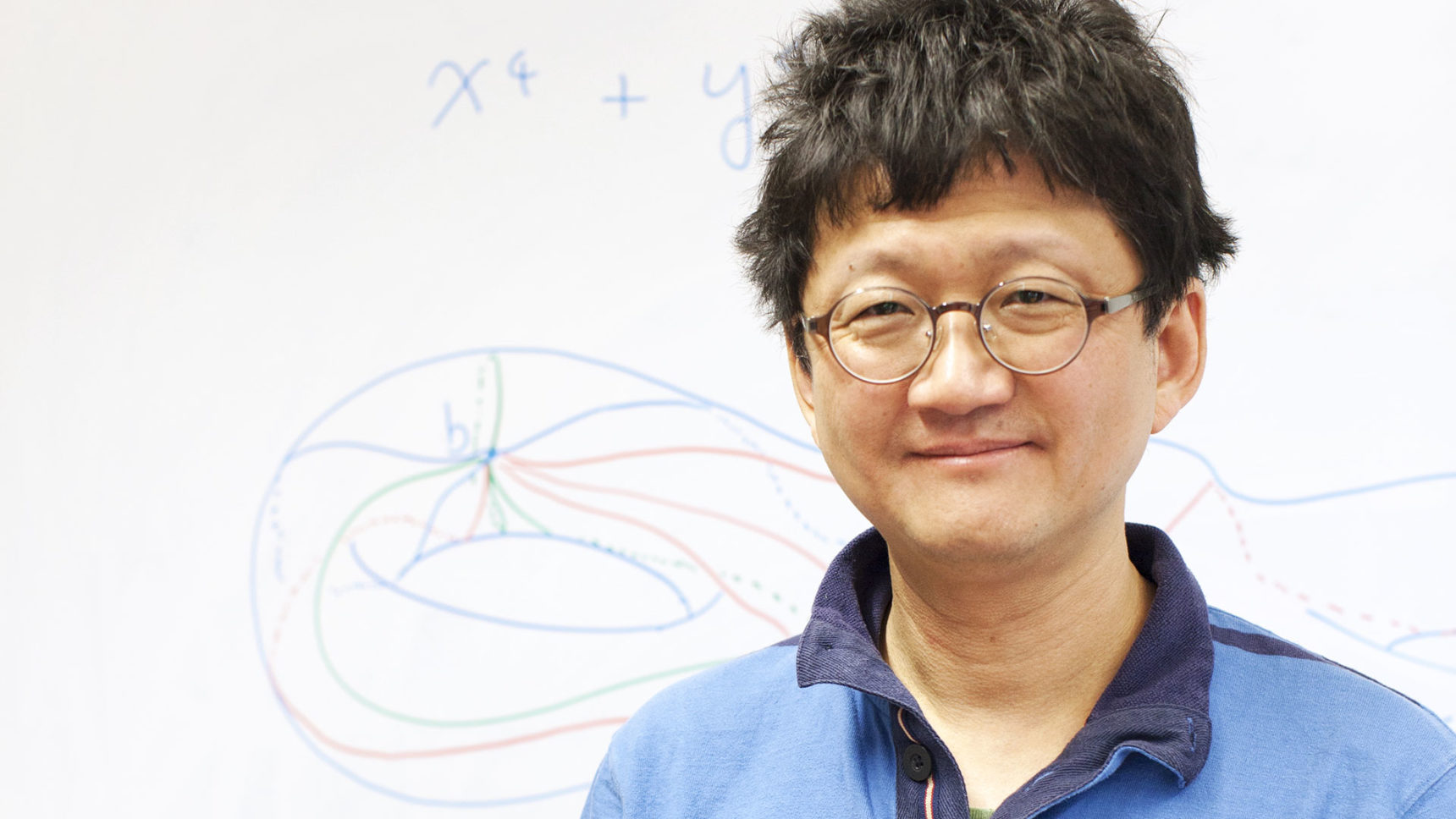 Minhyong Kim wanted to make sure he had concrete results in number theory before he admitted that his ideas were inspired by physics.