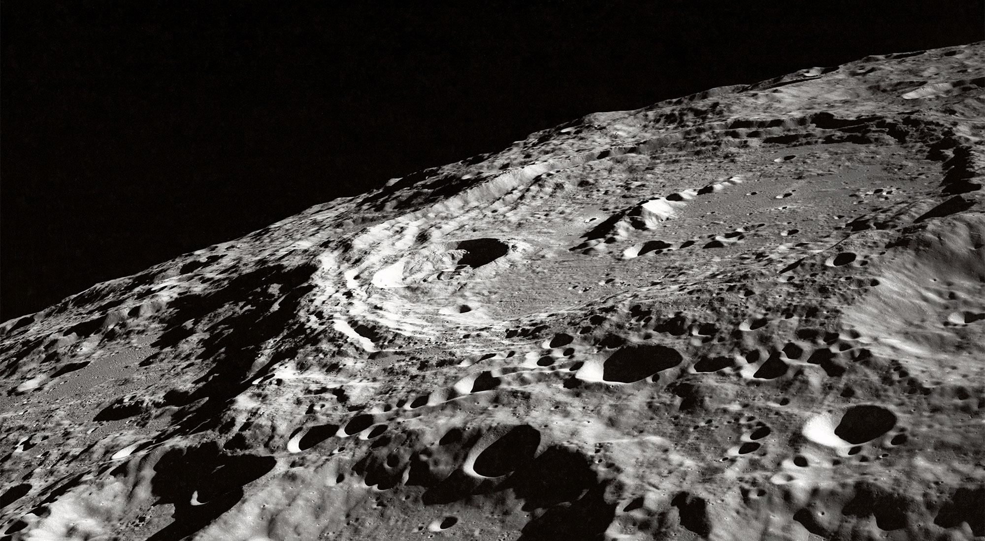 Photo of the moon's craters