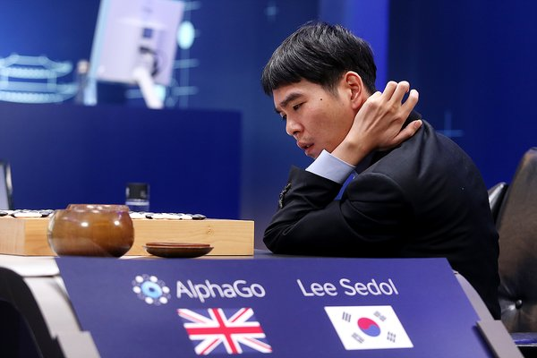 Lee Sedol, 18-time Go world champion, during his match against AlphaGo in 2016.