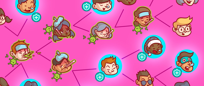 Homepage illustration for herd immunity