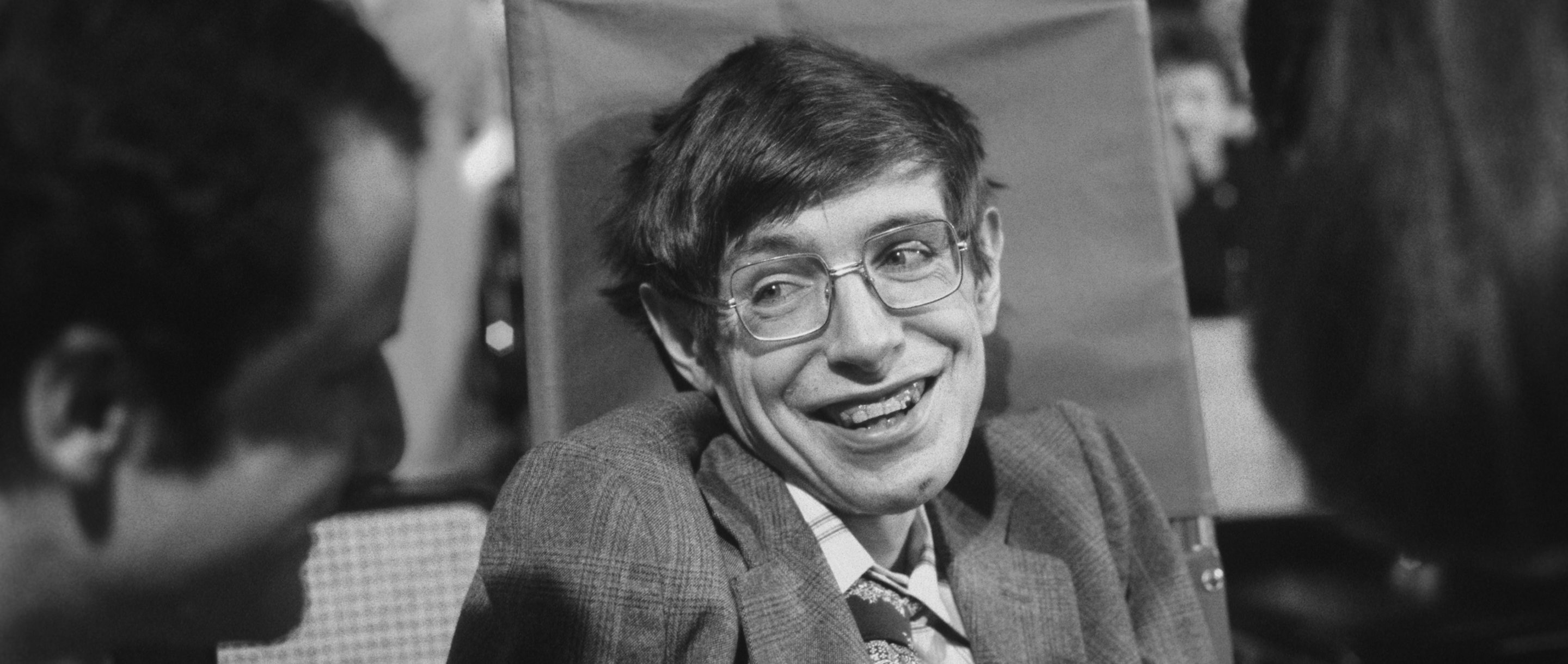 Photo of Stephen Hawking in 1979 in Princeton, New Jersey.