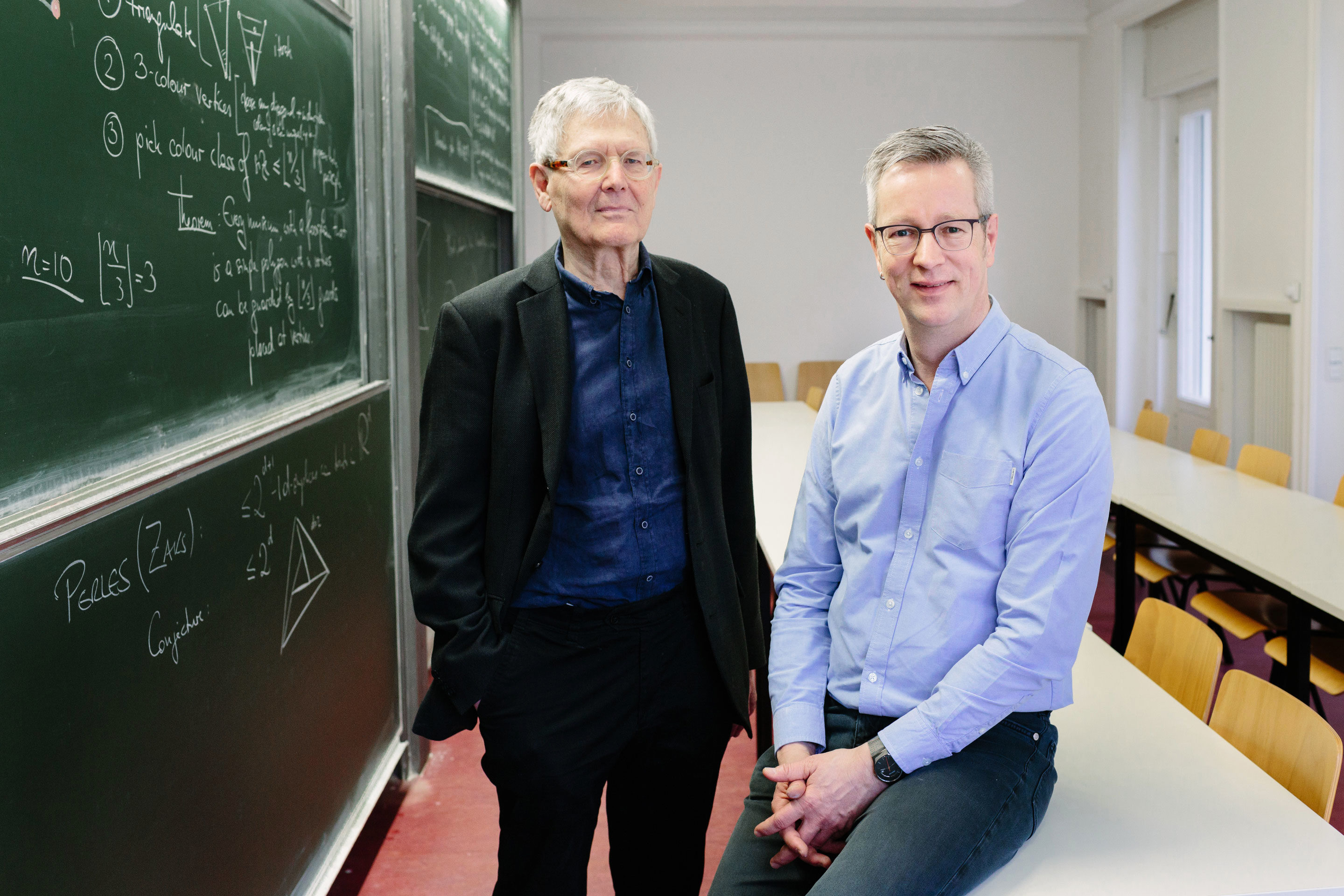 Portrait of Mathematicians Prof. Günter M. Ziegler and Prof. Martin Aigner