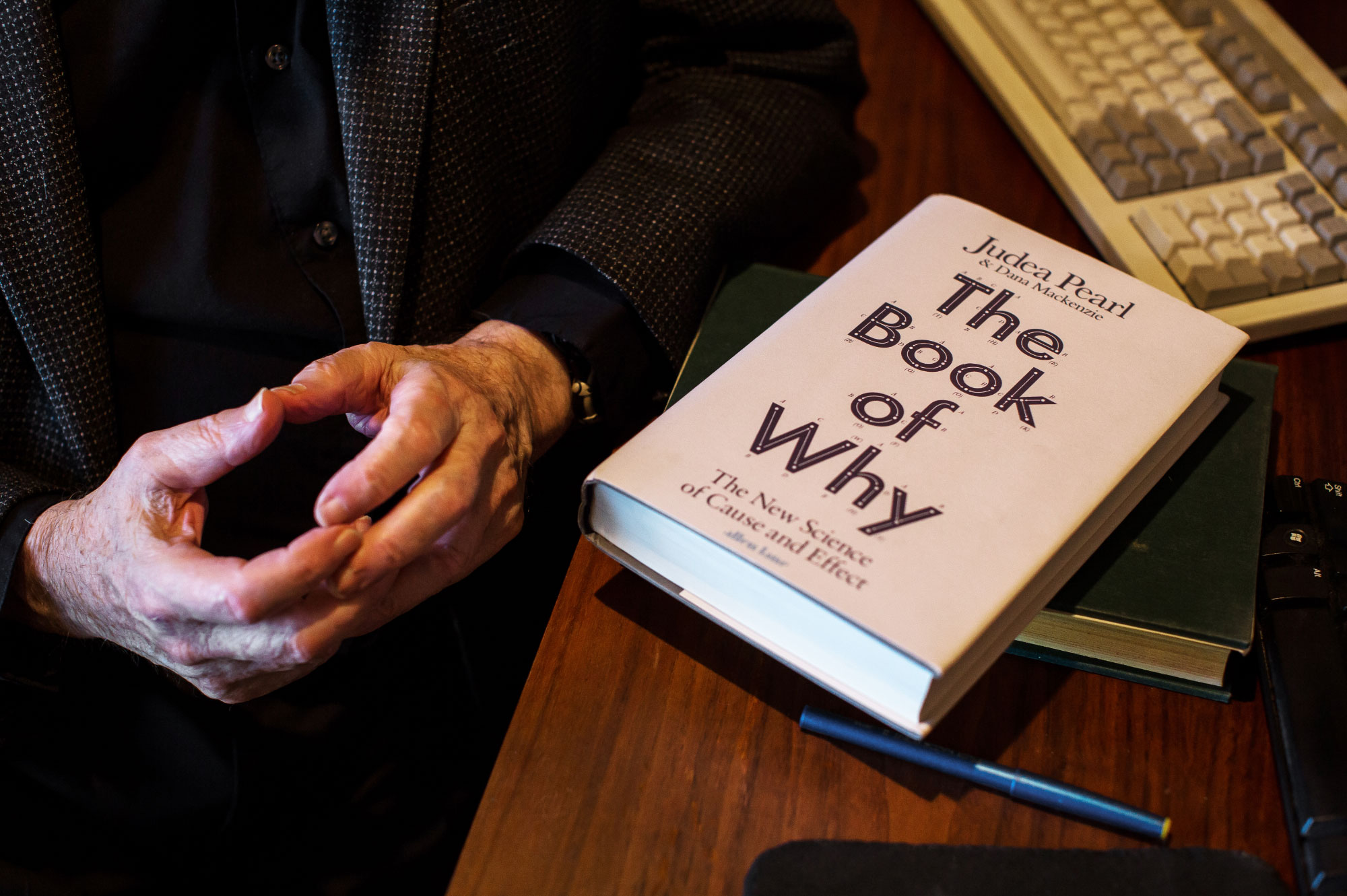 "Photo of Judea Pearl's book ""The Book of Why"""