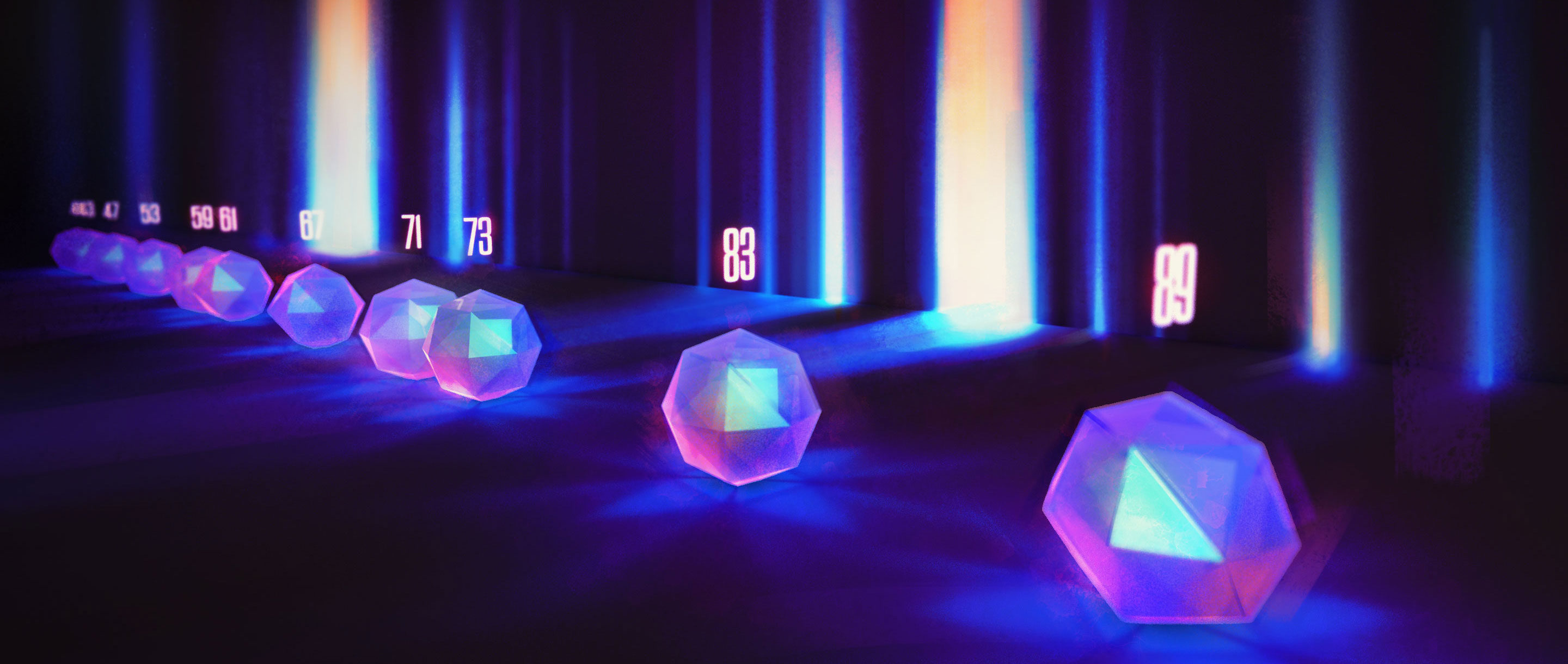 "Crystal diffraction art for ""A Chemist Shines Light on a Surprising Prime Number Pattern"""