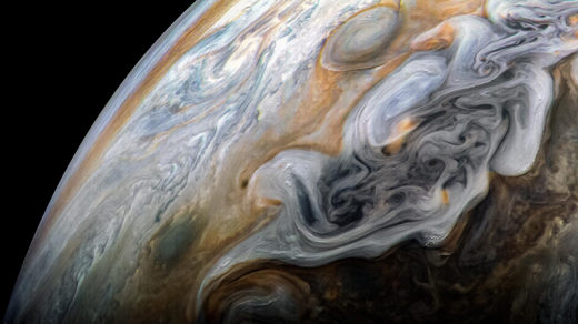 "Photo of Jupiter for ""Mathematicians Tame Turbulence in Flattened Fluids"""