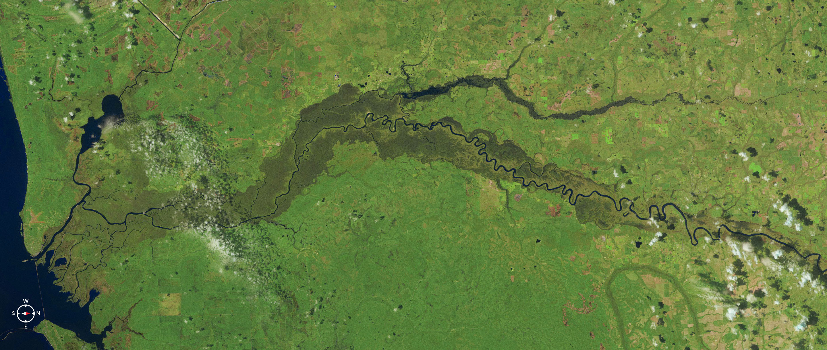 Satellite photo of the Apalachicola River