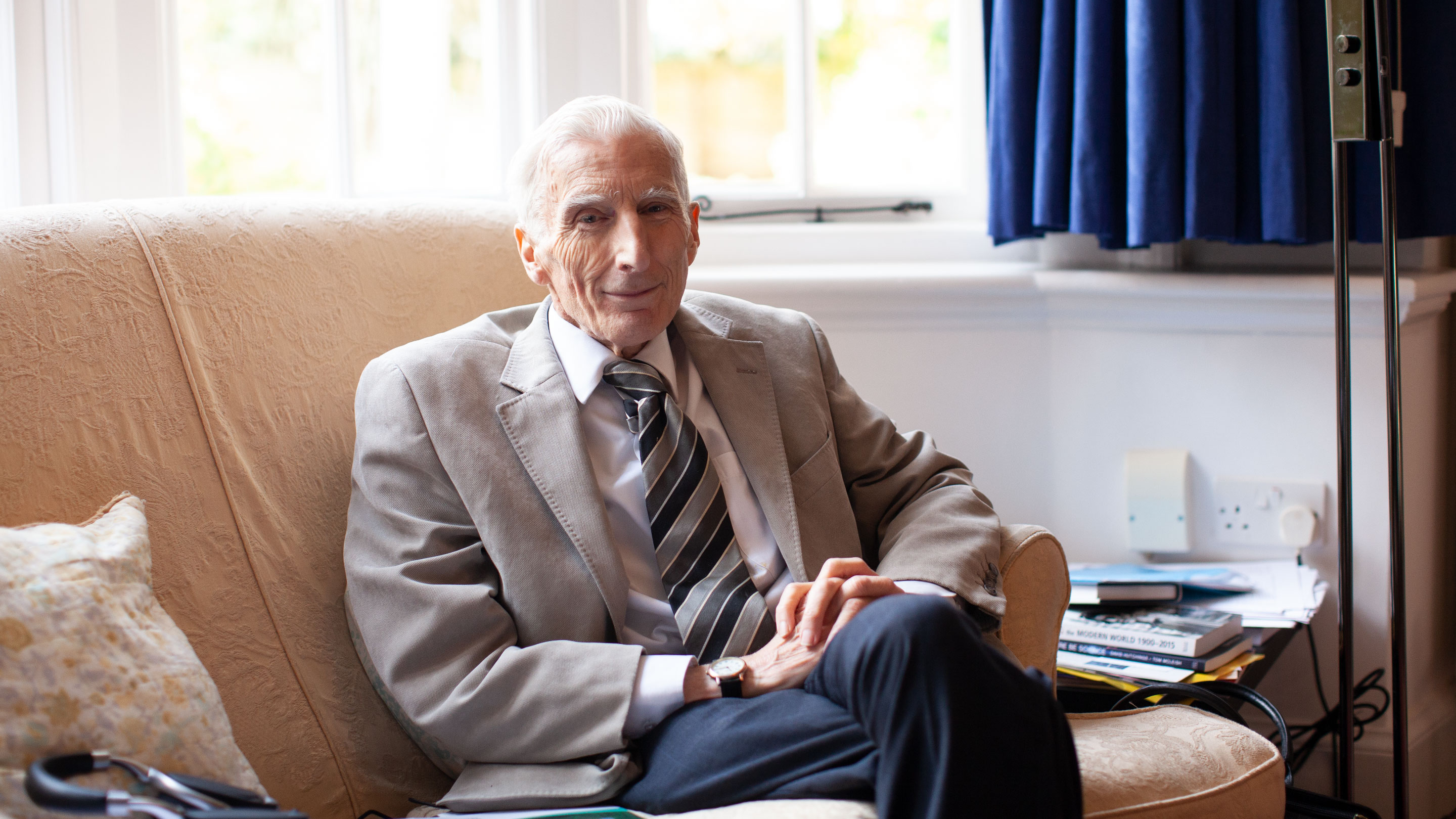 Martin Rees, Baron Rees of Ludlow, at his home in Cambridge, England.