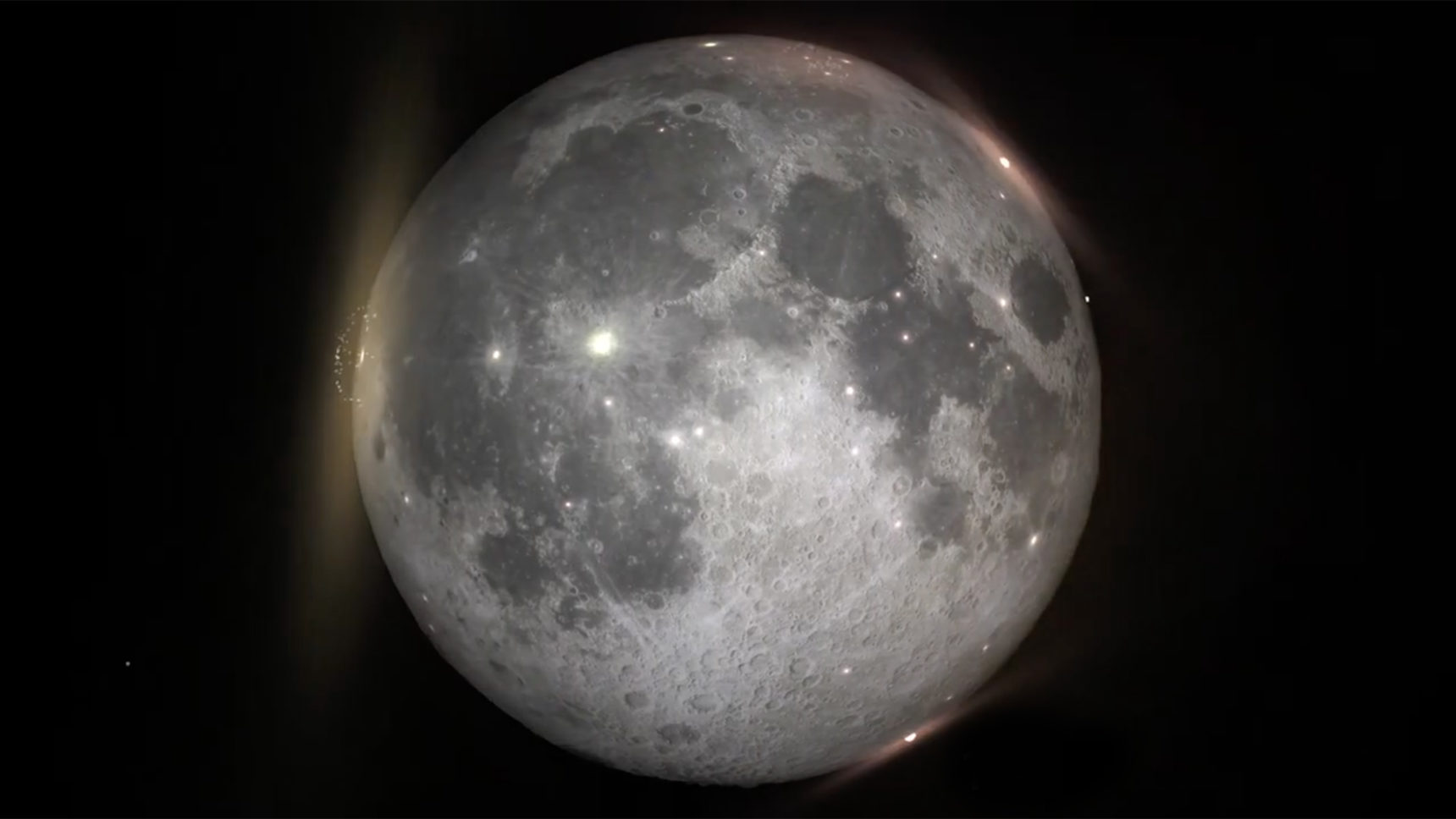 VIDEO: One billion years of lunar impacts compressed into a minute.