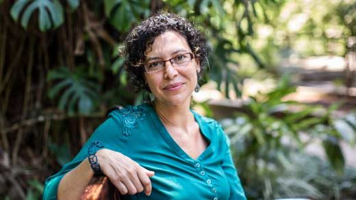 Portrait of Carolina Araujo at IMPA in Brazil