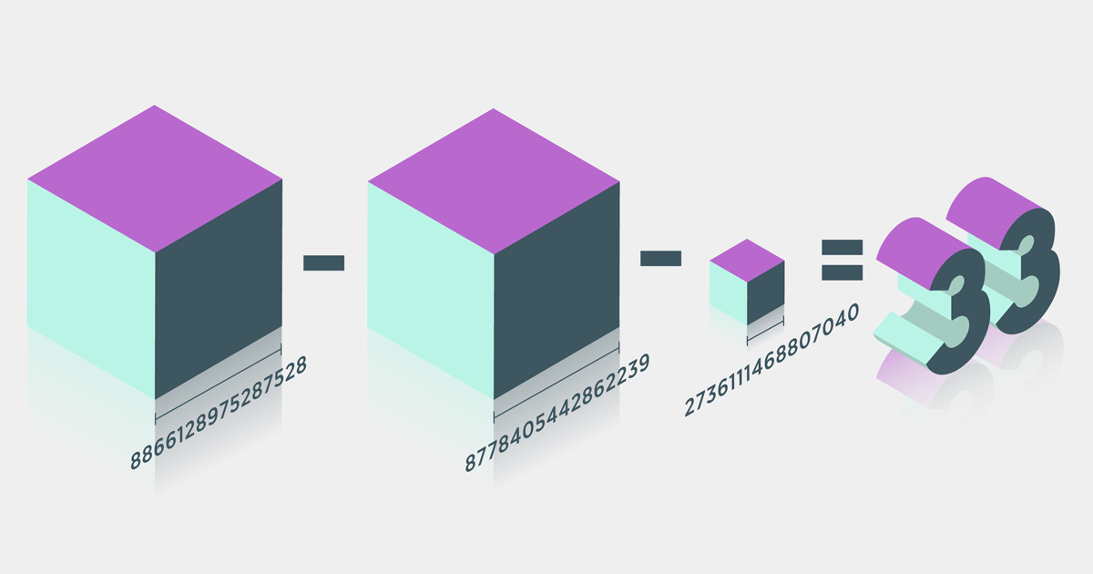 Sum-of-Three-Cubes Problem Solved for 'Stubborn' Number 33